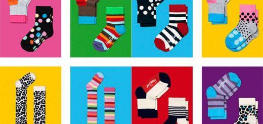 Vrolijke en blije sokken voor kinderen